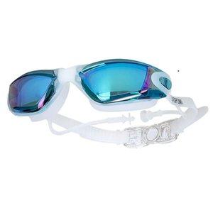 Myopia nadando gafas oreja enchufe niebla óptico hombres mujeres profesional prescripción piscina gafas gafas de buceo sqcdqh hjfeeling