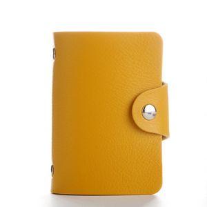 Card Holders 28GD 12 24 Bits PU Leather Business ID Holder Pocket Case Purse Wallet Organizer For Men Women