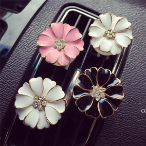 Car Perfume Clip Home Essential Oil Diffuser For Car Outlet Locket Clips Flower Auto Air Freshener Conditioning Vent Clip DHD8189