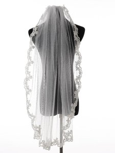 Bridal Veils Charming Lace Edge Wedding Accessories Tulle Veil With Comb In Stock