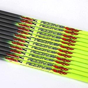 12pcs 32inch ID4.2 / 6.2mm Spine 30-1000 Pure Carbon Arrow Shaft Freccia Accessorio per la caccia all'aperto