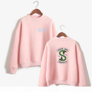 clothing sweatshirt hoodie Sleeve Fans southside serpents hood big size woman Casual Female costume hoddie