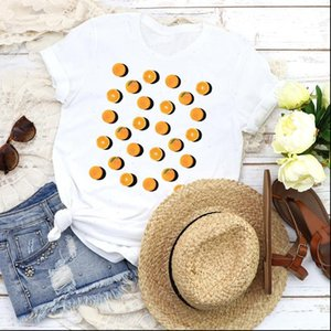 Women Graphic T Shirts Fruit Beach Sweet Pineapple Fashion Printed 90s Lady Tees Print Tops Clothing Female Shirt Womens
