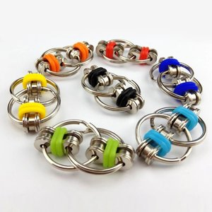 Puzzle Sensory Toys Autism Relief Bicycle Chain Fidget Toy Anti-stress Set Adhd Fine Tuning Key Metal Ring