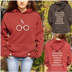 summer autumn ladies girl harries Potter fleece hoodie sweatshirts bolt printed pull casual gift clothes Xnxee