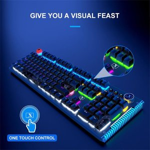 Teclados teclados mecânicos teclado preto branco backlit pc iluminado backlight com fio colorido LED para laptop gamer
