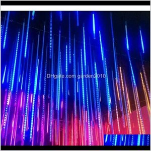 Decorations Christmas Lights For Solar Outdoor Waterproof Meteor Shower Led String Light Holiday Tree Garden Decorative Lamp 201211 Mq Xgh7D