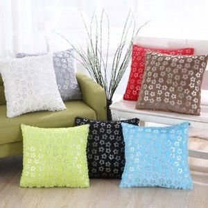 Chaise de bureau en peluche en peluche dorée, canapé, coussin de voiture Coussin de couverture de la maison Décoration de tissu 43 * 43cm T500568