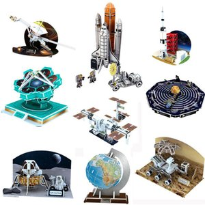 DIY 3D Puzzle Paper Aerospace Globe Country Style Model Assembled Educational Science Games Toy For Children Learning Jigsaw Kids Toys