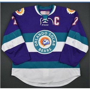 goodjob Men Youth women Vintage ECHL Orlando Solar Bears 27 Eric Faille 29 David Bell 3 Carl Nielsen Vintage Hockey Jersey Size S-5XL