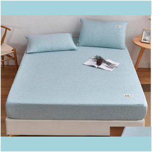 Sets Bedding & Gardenbedding Supplies Textiles Home Gardensoft Fitted Sheet Polyester Solid Elastic Bands For Sheets Abrasion Resistant Bed