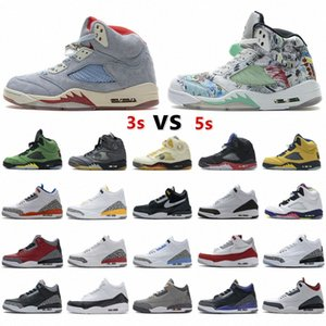 2021 jumpman 5 5s white Basketall Shoes Island Green what the Men mens 3 3s UNC Trainers sport Sneakers size 40-47