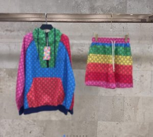 2021 spring and summer new retro modern color knitted jacket jacket shorts suit 503