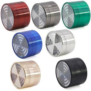 Window Signal Shape Tobacco Smoke Crushers crafts Grinders Metal 4 Pieces 63mm Zinc Alloy Herb Grinder Smoking Accessories HH21-296