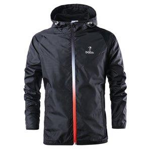 2020 Veste de course coupe-vent Hommes Athlétique Sport Jacket Gym Sweat à capuche d'extérieur Vélo Vélo Sportswear Sweat-shirt