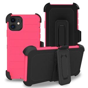 Чехлы телефона для Samsung A52 A32 5G 4G A11 A21 A01 2-й обороны Triple Combo Амортизационная крышка с зажимом ремня