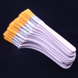 Watercolor Oil Painting Brush Reusable Barbecue Brush with Wood Handles for Children Home Tool Wall Decor 12pcs set CCF6415