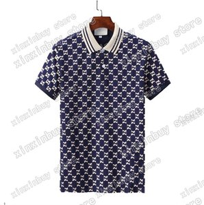 2021 Mens designer Polo Shirts Luxury Italy Men Clothes Short Sleeve Fashion Casual Men's Summer T Shirt Many colors blue available Size M-3XL
