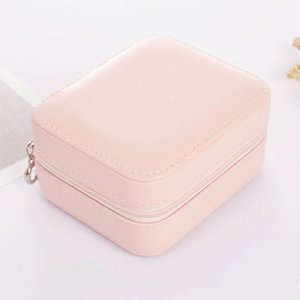 Small Portable Travel Leather Storage Bag with Mirror Jewelry Organizer Gift Box for Rings Earring Necklace and Bracelet 722 K2 7QBV