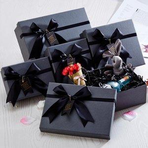 Gift Box Christmas Black World Cover Minimalist Creative Scarf Perfume Lipstick Birthday Wrap