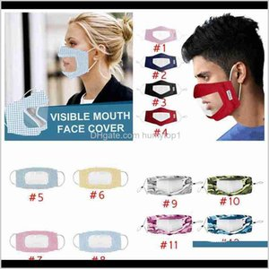 Cycling Caps Visible Mouth Cover Anti Dust Reusable Washable Mask Adults Fitness Supplies Deafmute Camo Face Masks Cyz2643 4Slpz Rc3La