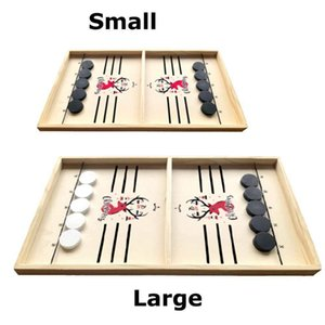 Wooden Toys Table Board Games Fast Hockey Sling Puck Game Paced Sling Puck Winner Fun Party Game Toys For Adult Child Family