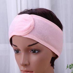 Women Spa Bath Face Wash Headband Shower Fabric Towel Hair Clip Elastic Makeup Hair Wrap Headband For Women