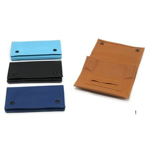 Tobacco Pouch Bag Pipe Cigarette Holder Smoking Paper Wallet PU Leather Storage Portable Rolling Cigar Case Moisturizing Bags FWC7336