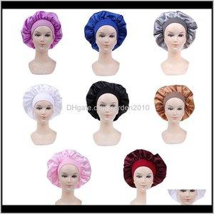 Caps Long Hair Care Women Satin Bonnet Cap Night Sleep Hat Silk Head Wrap Adjust Shower Caps1 Yfvdd Bkjst