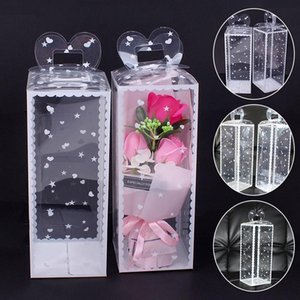 1pc Christmas Clear PVC Box Packing Wedding Favor Cake Packaging Chocolate Candy Dragees Apple Gift Event Transparent Wrap