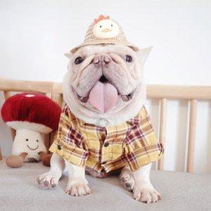 Dog Apparel Pet Autumn And Winter Clothes, Cotton Plaid Shirt, Fat Law Schnauzer