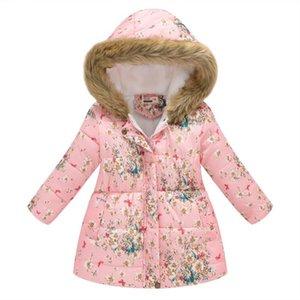 Scarves & Wraps Girl Casual Coat Hooded Long Sleeve Print Fur Children Collar Patchwork,Pockets Patchwork Zipper