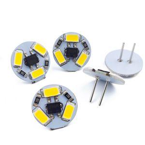 Ampoules LED G4 Ampoules Round Round Hood Lampe 12V SMD5730 3leds Light de bateau Remplacer les lumières d'éclairage halogène