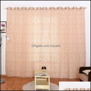 Drapes Deco Supplies Home & Gardencurtains Polyester Semi-Blackout Grommet Top Window Panel Living Room Bedroom El Cortinas Decor Voile Curt