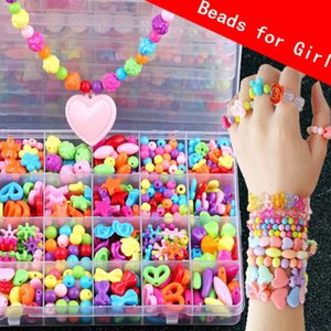 DIY Making Beads Kit Toy Children Kids Bracelet Set Girls Toys for 5 6 7 8 Years Old Jewellery Arts Crafts Necklace Intellectual