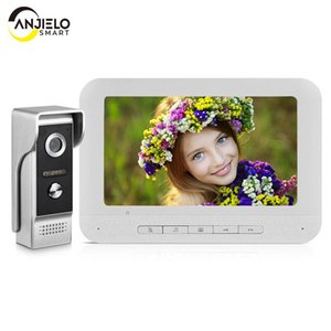 Inch Wired Video Door Phone 4 Wire Intercom Home Security Access Control System Doorbell Camera For Villa Phones