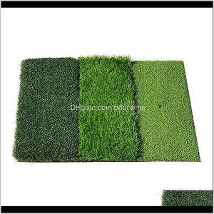 Golf Practice Mat Foldable Artificial Lawn Nylon Grass With Rubber Tee Indoor Backyard Training Hitting Aids Uoz9I Skcga