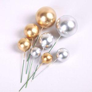 Dia de Queen Golden Golden Globes Bolo Cozimento Rich Party Decoração Cinco apontado Estrela Plug In