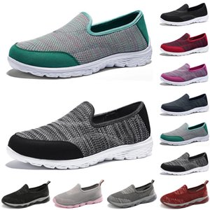 2021 luxury women casual shoes Black red gray loafers flat slip on Breathable mens trainers sneakers size 35-42