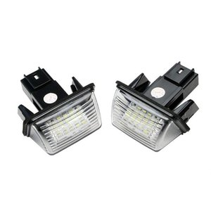 Emergency Lights Xenon White License Plate Light For C3 1 2 C4 C5 206 207 307 308 High Strength LED Parts