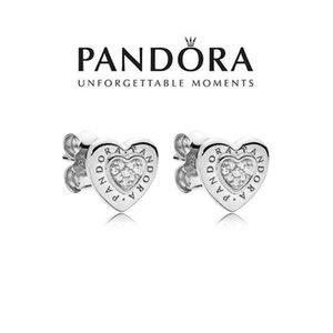 Heart Stud Earrings S925 Women Gift Silvery With Box