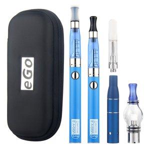 MOQ 1Pcs 4 in 1 Multi Vape Pen Starter Kits for Dry Herb Wax Dab Thick Oil Eliquid EGO UGO V II 4in1 E-Cig Vaporizer Kit Authentic