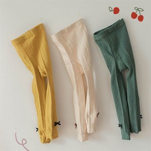Spring Baby Tights Candy Color knitting Leggings Toddler Clothing 210419