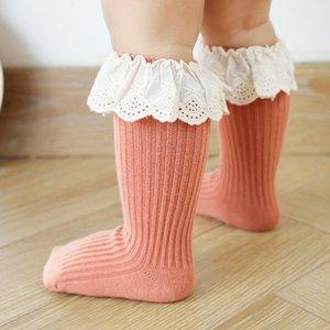 Baby Socks Girl Newborn Infantil Kid Knee High Lace Socks Toddler Babygirl Anti Slip Cotton Winter Infant Long Sock For 0-3 Year 937 X2