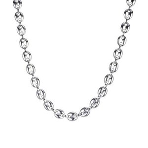 2020 brand design stainless steel jewelry Necklace For Men Women Coffee Bean Shape Melon Seed Chain Stainless Steel Choker Gift