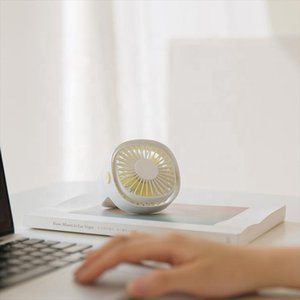 Desktop USB Fan With 360 Degrees Rotation 3 Gears Silent Natural Wind Handheld Air Cooling 5V For Computer Humidifiers