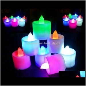 Candles Décor Garden Drop Delivery 2021 Multicolor Electronic Led Simulation Light Birthday Wedding Flameless Flashing Candle Plastic Home De