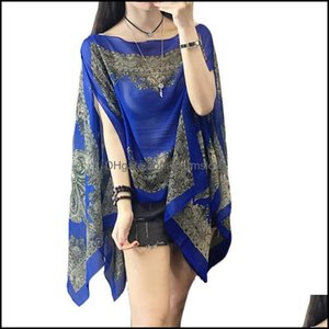 Er-Ups Swimming Equipment Sports & Outdoorser-Ups Summer Woman Flower Thin Shirts Shawl Sunscreen Er Ups 10-Color Loose Plus Size Blouses Ch