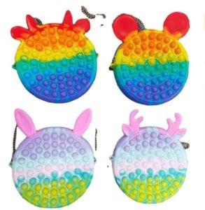 2021 Party Favor Push Bubble Bag Kids Adult Novelty Fidget Simple Toy Sensory Toys Bags Finger Bubbles Game DHL Fast XC299