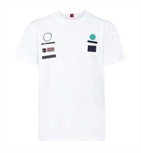 2021 Custom Custom Logo Costume de course, T-shirt à col rond à manches courtes, T-shirt de moto pour hommes, vêtements de travail de voiture, costume de course occasionnel